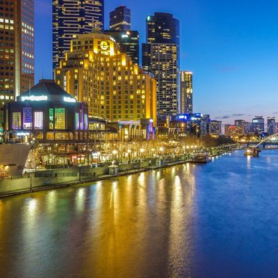 Melbourne's Southbank in the evening